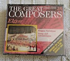 THE GREAT COMPOSERS: ELGER (CD, TWO- IN-ONE COLLECTION) NEW - FREE SHIPPING