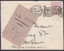 1905 Australia, Victoria 2d; Melbourne Victory Slogan:Hobart,Tasmania;Tattersall