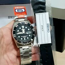 SEIKO SUBMARINER AUTO 23 JEWELS WATER RESISTANT WATCH SNZF17J1 Free Resin Strap