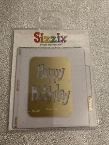 Sizzix Simple Impressions Embossing Folder - Phrases Happy Birthday 38-9680