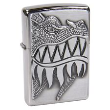 Zippo 28969 Silver Firebreathing Dragon - Lighter - Petrol Windproof - Gift Box