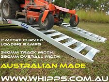 1 tonne Capacity Curved Mower Loading Ramps 2 metres long x 390mm wide