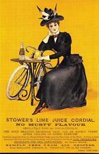 Postcard Nostalgia Stower's Lime Juice Cordial Advertisement Reproduction Card