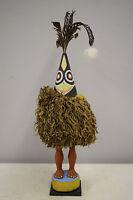 Papua New Guinea Tolai People Duk Duk Statue Male Female Feathers