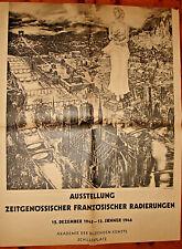 AFFICHE ALLEMANDE SUR PARIS PAR DÉCARIS-1945- 91/70 CM- NOTRE DAME