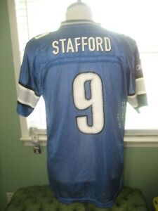 NFL YOUTH MATTHEW STAFFORD #9 BLUE JERSEY sz LARGE (14-16) NEW WITH TAGS