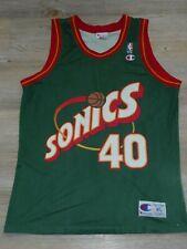 Seattle Super Sonics Shawn Kemp #40 NBA Basketball Champion Trikot Jersey XL