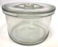 "Vintage Corning Pyrex Heavy Glass Laboratory Lab Jar 10"" 254mm 2 Gallon w/ Lid"