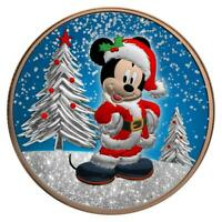 Niue 2019 $2 Mickey Christmas - Gilded with Diamond Dust 1 Oz Silver Coin