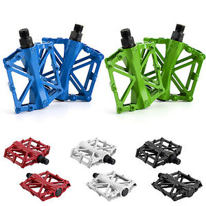 "Pair Flat ALLOY FLAT PLATFORM BIKE PEDALS 9/16"" MOUNTAIN BICYCLE/MTB/BMX/CYCLE"