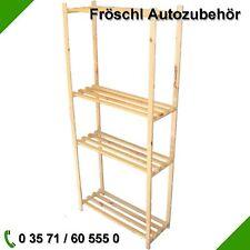 170cmx75cmx28cm Holz Boden Holzregal Lagerregal Regal aus Holz Keller Küche Flur