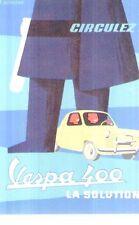 Ripr. Cartolina Tecnica Trasporti 1960 Vespa 400