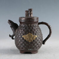 Chinese Gilt Copper Carp Teapot Made During The Qianlong Period