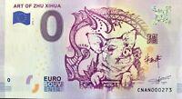 BILLET 0 ZERO EURO SCHEIN SOUVENIR  ART OF ZHU XIHUA N° RADAR 272   2018-1