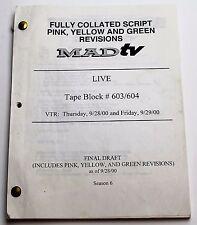 MADtv * 2000 TV Show Script * Nelson Ascencio, Alex Borstein & Mo Collins