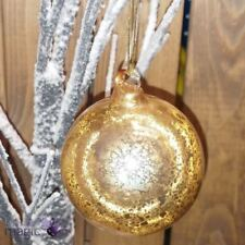Adornos de bola de vidrio color principal oro para árbol de Navidad