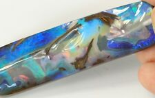 AUSTRALIAN  BOULDER OPAL SOLID STONE NATURAL CUT 150cts +Vid