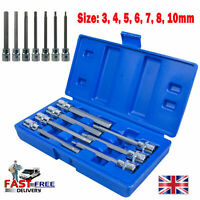 "Allen Hex Key Sockets Metric Ball Ended Long 3mm 10mm 3//8"" Drive 7pc Set HX056"