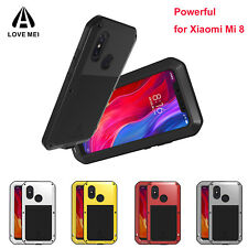 LOVE MEI Shockproof Case For Xiaomi Mi 8 Protective Cover Aluminum Metal Bumper