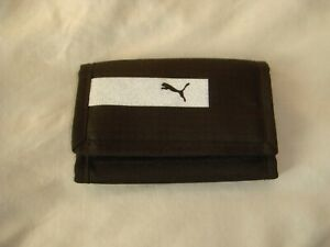 PUMA TRIFOLD WALLET - BLACK - 100% POLYESTER ONE SIZE - IN VERY GOOD CONDITION