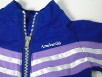American Girl Doll Clothes Gymnastics Outfit JACKET ONLY Purple Zip Gym Warm Up!