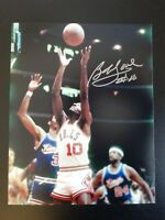 BOB LOVE SIGNED AUTO CHICAGO BULLS 8X10 PHOTO #10 AUTOGRAPHED