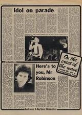 Generation X Billy Idol Tom Robinson Band Interview/article 1977