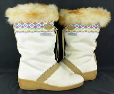 NICE! Womens Vintage Technica Fur Apres Ski Boots Made in Italy! 38 EU 7.5 US