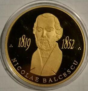 GOLD COIN NICOLAE BALCESCU 2007 MINTAGE 250