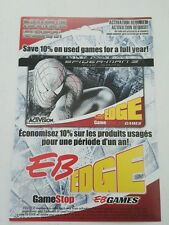 Spiderman 3 eb games promo flyer ( canadian )