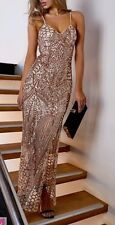 FOREVER HOT! NEW PEPPERMAYO GOLD LUXE SEQUIN FORMAL EVENING MAXI DRESS 10 LAST1