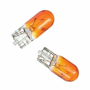Paire de 2 ampoules 12V clignotants Ambre - Orange W5W WY5W T10 5W - NEUF