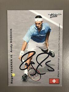 Roger Federer Autographed 2003 NetPro Elite Tennis Rookie Cards Autograph Signed