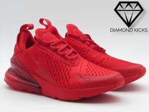 """Nike Air Max 270 GS """"Triple Red"""" (CW6987-600) Women SZ 6.5-8.5"""