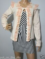ALANNAH HILL size 12 rrp $229 FRIGHT DELIGHT CARDI / CARDIGAN silk & cashmere