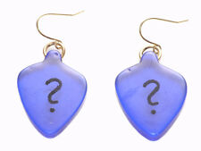 Quirky & Unique Navy Blue Question Mark Hook Earrings(Zx66/189)