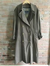 Burberry Prorsum Vintage Olive Classic Trench Coat Nova Check Wool Lining 42R