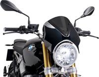 PUIG 7012F Naked Bike Windscreens Black/Dark Smoke Sport
