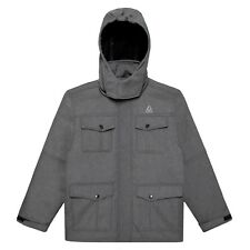 Reebok Men Coat Soft Shell Systems Jacket - Insulated 3-in-1 Size L Gray