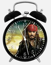 """Pirates of the Caribbean Alarm Desk Clock 3.75"""" Home or Office Decor W134"""
