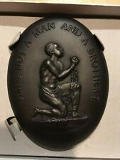 Wedgwood Am I not a Man and A Brother Anti-slavery Medallion Black Basalt NICE!