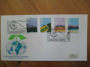 1983 COMMONWEALTH GPO FIRST DAY COVER, ROMSEY, MAHATMA GANDHI 1869-1948 H/S