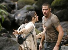 PHOTO LOST LES DISPARUS - MATTHEW FOX & EVANGELINE LILLY (P1) FORMAT 20X27 CM