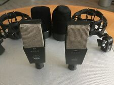 Pair AKG 414 ULS Microphone professional vintage rare