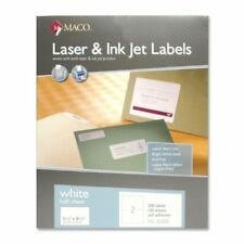"New Maco ML0200 - White All-Purpose Labels, 5.5"" x 8.5"", 200/Box  PACK OF 2"