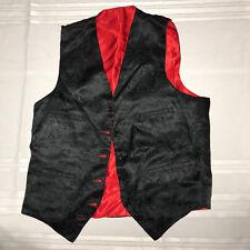 MENS  Victorian Edwardian Sherlock Holmes Dickens reversible red VEST size S 38