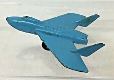 Midgetoy Blue Military Navy Airplane Metal Rockford Ill 3 1/8 x 3 1/2 Paint Wear