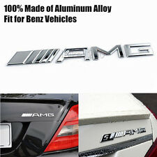 3D Alloy AMG Chrome Rear Trunk Decal Badge Emblem for Mercedes-Benz C250 E350 SL