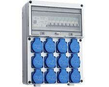 Wandverteiler FI  12x 230V Baustromverteiler Stromverteiler Komplett WVT7-12