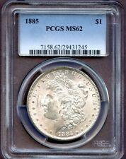 1885 $1 Morgan Silver Dollar PCGS MS 62 (1245)